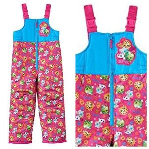 Shopkins Little Girls Bib Snowpants New with tags
